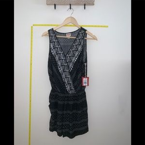 NWT Mossimo Black and White sleeveless romper